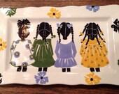 "Rose Hill ""The Little Colored Girls"" Serving Platter 13"" x 8"""