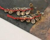 Brass Vine Earrings