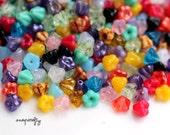 50pc mixed assortment of 4x6 mm baby bell czech glass flower beads