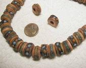 Rose Pink Yak Bone Prayer Beads - 10 pcs. - YK701