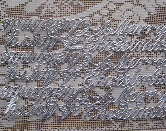 Dresden Trim Made In Germany Silver Script A Merry Christmas