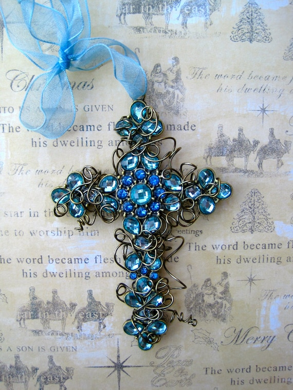 image easter cross totally crosses beaded cross ornament