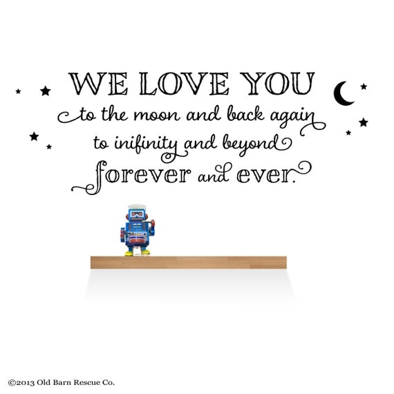I Love You Quotes: Items Similar To Kids Room Wall Decal