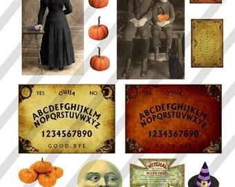 Digital Collage Sheet Vintage Halloween Images (Sheet No.O139) Instant Download