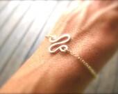 Gold Filled or Sterling Silver Winding Road Bracelet