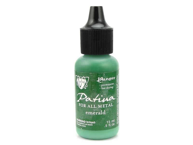 Emerald vintaj patina paint dark green patina for all metals - How to mix emerald green paint ...