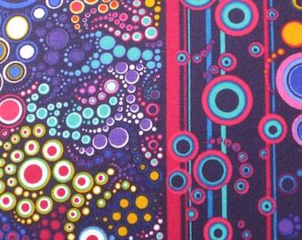 Bubbles Effervescence Bright Purple Kaufman Fabric 1 yard