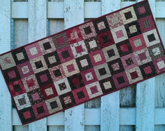 Quilted Table Runner - Cedar Box (EDTR23)