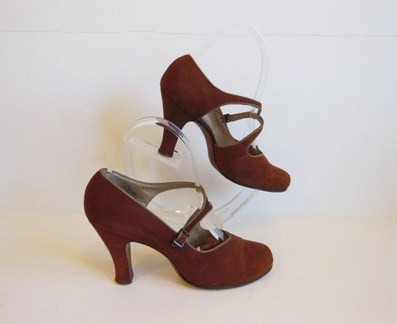 40s shoes vintage 1940 s strappy baby by planetclairevintage