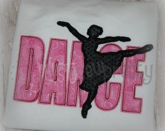 Dance Sillouette Embroidery Applique Design