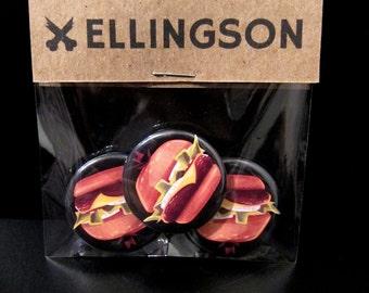 Burger Button 3-Pack