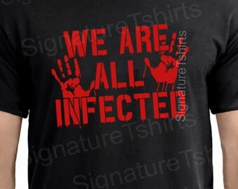 We Are All Infected Mens Halloween Costume Tshirt T Shirt