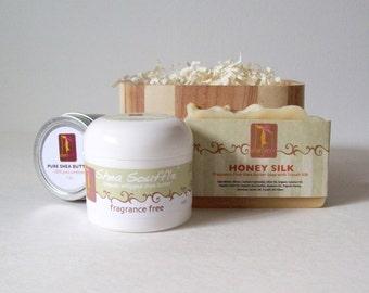 Fragrance Free Soap Gift Set, Dianjane Unscented Natural Skincare, Fragrance Free Organic Soap Set