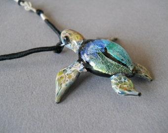 Ocean blue Sea Turtle pendant seaturtle jewelry necklace