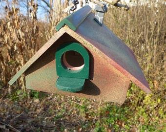 Red and Green Splatter Birdhouse