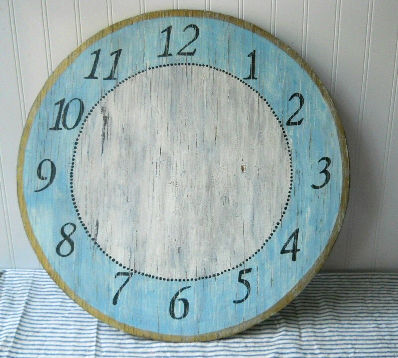 Hand Painted Clock Face Dial Wooden Large Clock Face Table Top