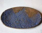 Oval Stoneware Plate 7 Inches long Multi Purpose  for Kitchen, Buffet Table or Office