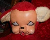 Vintage c-Dollcraft Inc Rubber Face Extra Large Teddy Bear PJ Pocket on the rear