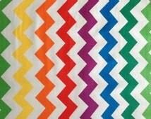 Rainbow Chevron Fabric BTY