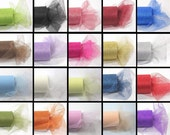 20 roll Variety Pack of 6 inch x 30 ft GLITTER Tulle