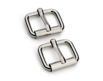 "10pcs - 5/8"" Roller Pin Belt Buckles - Nickel - Free Shipping (ROLLER BUCKLE RBK-104)"