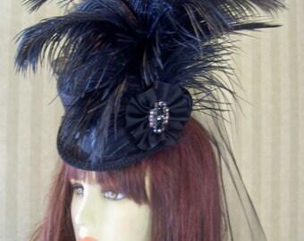 Steampunk Mini Top Hat  Alice in Wonderland Mini Top Hat Victorian Mini Top Hat Wedding Hat Halloween Hat