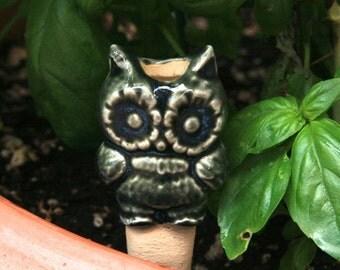 Owl Plant Tender Ceramic Sculpture