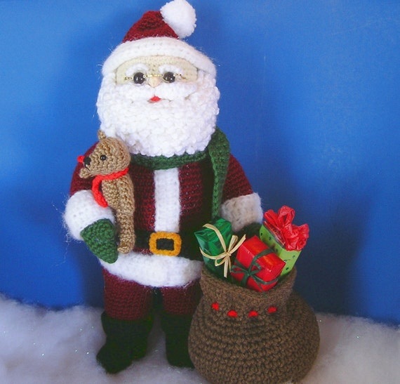 WOODLAND SANTA PDF Crochet Pattern