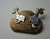 Noahs Ark Pin Brooch