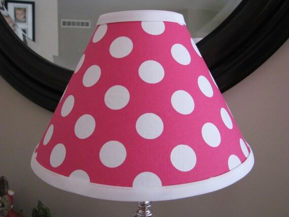 Lamp Shade Hot Pink Polka Dot