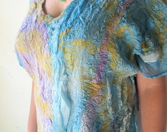 Nuno Felted Silk Tunic ( M or L size) Plus Size