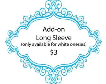 Long Sleeve Add-on (White Onesie)