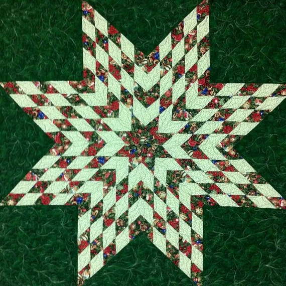 Quilt Pattern Star Of Bethlehem Modern Patchwork Christmas
