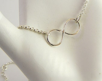 Infinity Link Sterling Silver Symbolic Slave bracelet