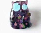 Lampwork Cat Kitten Bead Rhonda Fritty Kooky Kitten by keiara SRA