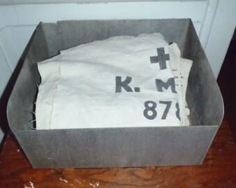 Vintage Industrial Galvanized Storage Bin