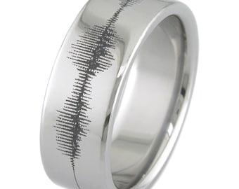 Sonic Waveform Titanium Ring