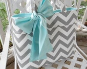 Gray Chevron Tote Bag, Every Day Bag, Diaper Bag