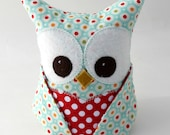 Owl Bookend - Paperweight doorstop - colorful