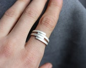 Simplicity ring made of polished or matte Sterling silver, simple and trendy design, Slim Ring, Silver Band, minimalist, urban