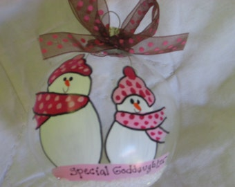 Special Goddaughter - Personalized and Hand Painted
