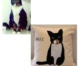 Custom Pet Portrait Pillow / Custom Dog Pillow / Custom Cat Pillow/ Pet Pillow/ Pet Portrait Pillow