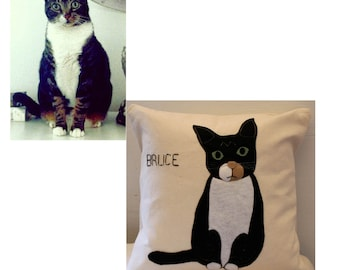 Custom Pet Portrait Pillow / Custom Dog Pillow / Custom Cat Pillow/ Pet Pillow/ Pet Portrait Pillow