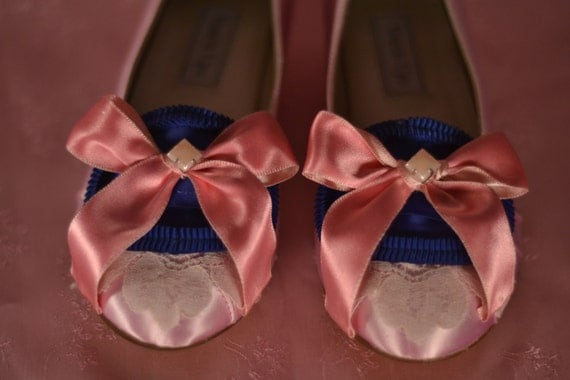 Special - Marie Antoinette Pink & Royal Blue Pumps
