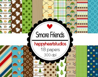 Digital Scrapbook SmoreFriends-INSTANT DOWNLOAD