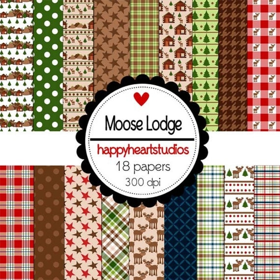 Digital Scrapbook MooseLodge-INSTANT DOWNLOAD
