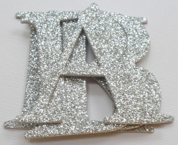 Glitter letters 2 elegant chipboard letter die cuts for Large letter die cuts