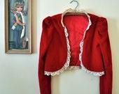 Vintage Red Velvet Jacket