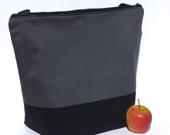 Insulated Large Lunch Bag Tote Zip Lunch Bag Man Lunch Bag Plain and Simple by BonTons