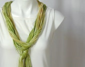 The Soba Scarf in Wasabi and Bamboo